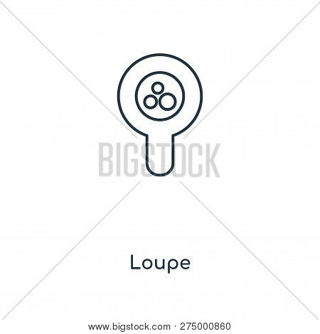 Loupe Icon In Trendy Design Style. Loupe Icon Isolated On White Background. Loupe Vector Icon Simple