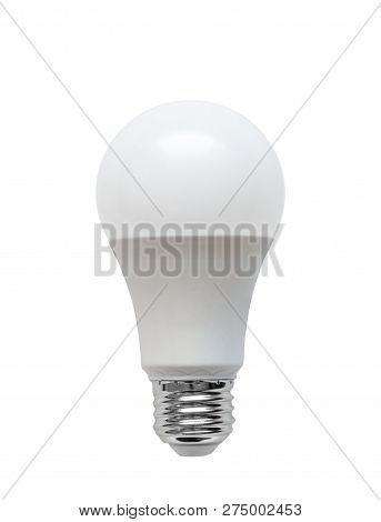 Energy Efficient Light Emitting Diode Led Light Bulb Isolated On White Background.