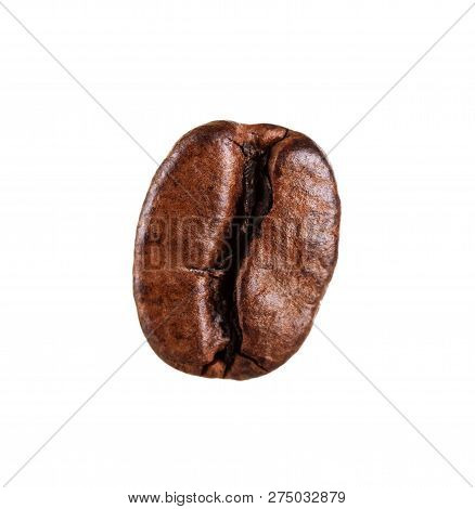 Fresh Roasted Coffee Beans Close Up Isolated On White Background