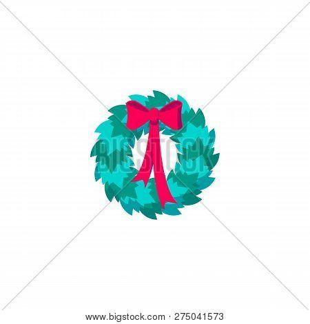 Christmas Wreath Drawing.Icon Christmas Wreath Vector Photo Free Trial Bigstock