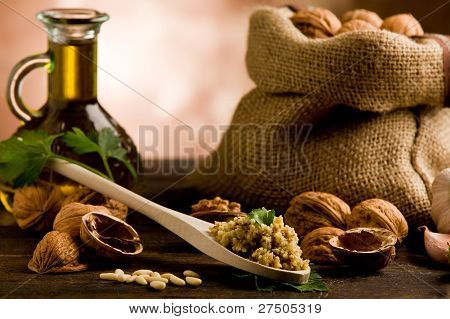 Homemade Walnut Pesto