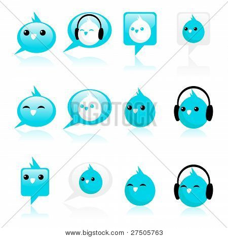 Blue Bird Icons