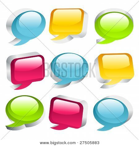 Colorful Speech Bubble Icons