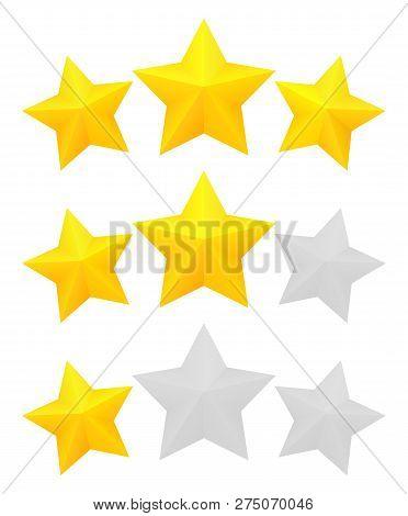 Three Star Rating Vector Photo Free Trial Bigstock