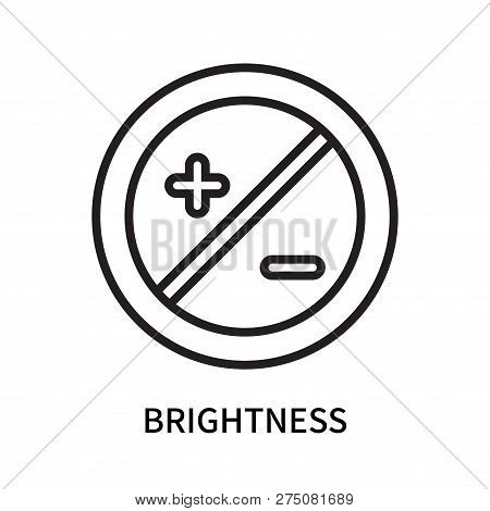 Brightness Icon Isolated On White Background. Brightness Icon Simple Sign. Brightness Icon Trendy An