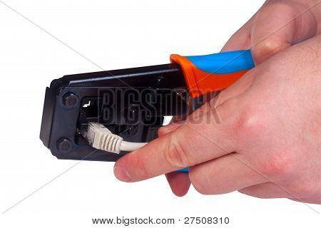 Working With Ethernet And Phone Crimp Tool