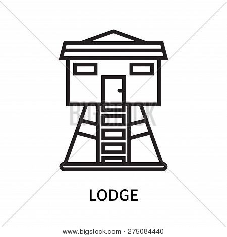 Lodge Icon Isolated On White Background. Lodge Icon Simple Sign. Lodge Icon Trendy And Modern Symbol