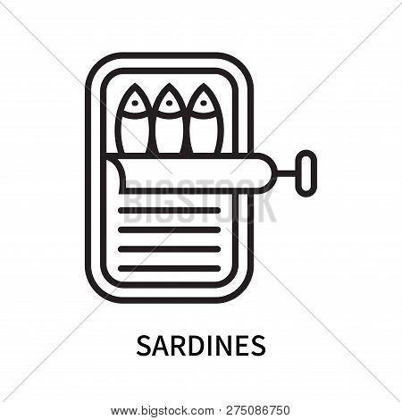 Sardines Icon Isolated On White Background. Sardines Icon Simple Sign. Sardines Icon Trendy And Mode