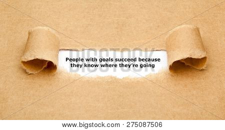 People With Goals Succeed Inspirational Quote