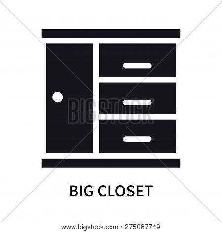 Big Closet Icon Isolated On White Background. Big Closet Icon Simple Sign. Big Closet Icon Trendy An