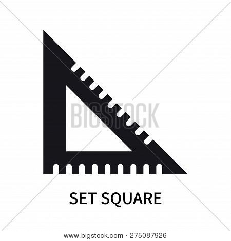 Set Square Icon Isolated On White Background. Set Square Icon Simple Sign. Set Square Icon Trendy An