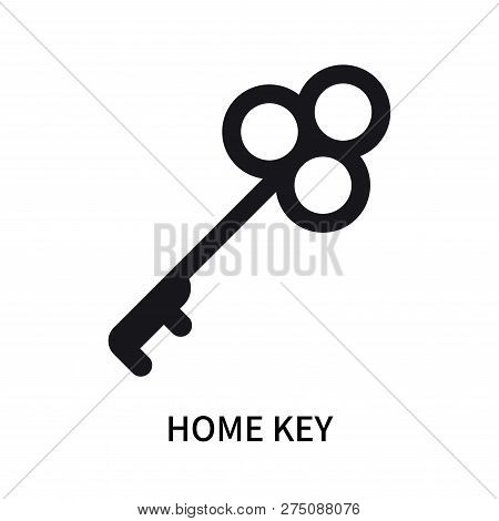 Home Key Icon Isolated On White Background. Home Key Icon Simple Sign. Home Key Icon Trendy And Mode