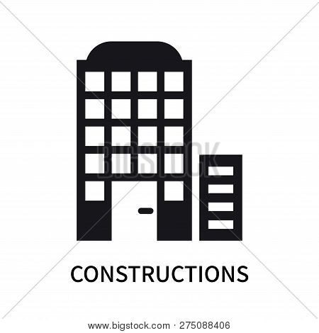 Constructions Icon Isolated On White Background. Constructions Icon Simple Sign. Constructions Icon