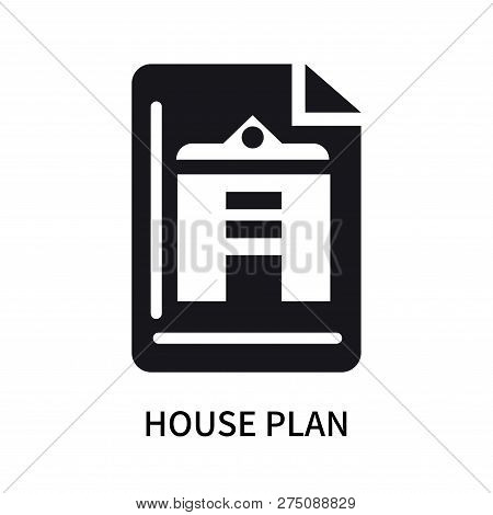 House Plan Icon Isolated On White Background. House Plan Icon Simple Sign. House Plan Icon Trendy An