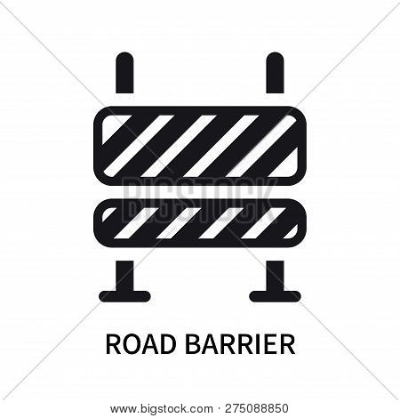 Road Barrier Icon Isolated On White Background. Road Barrier Icon Simple Sign. Road Barrier Icon Tre