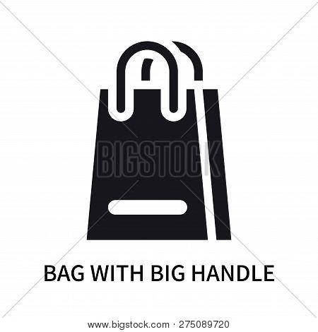 Bag With Big Handle Icon Isolated On White Background. Bag With Big Handle Icon Simple Sign. Bag Wit