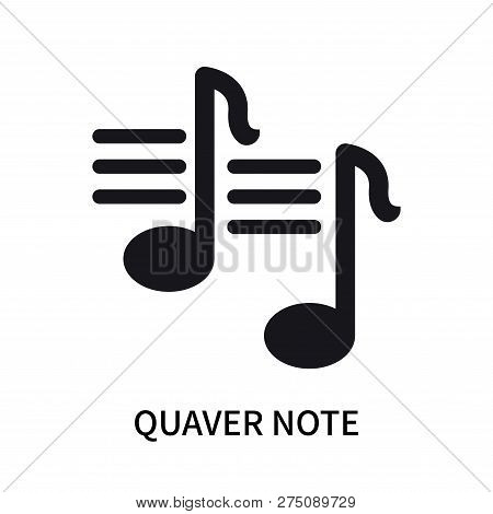 Quaver Note Icon Isolated On White Background. Quaver Note Icon Simple Sign. Quaver Note Icon Trendy