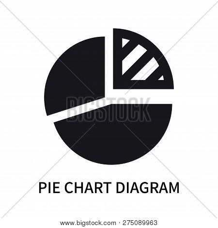 Pie Chart Diagram Icon Isolated On White Background. Pie Chart Diagram Icon Simple Sign. Pie Chart D