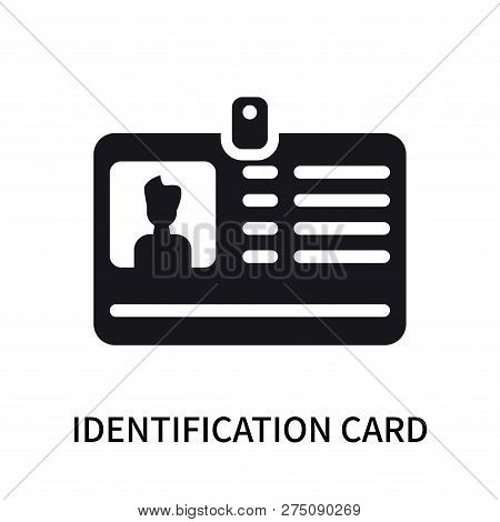 Identification Card With Picture Icon Isolated On White Background. Identification Card With Picture