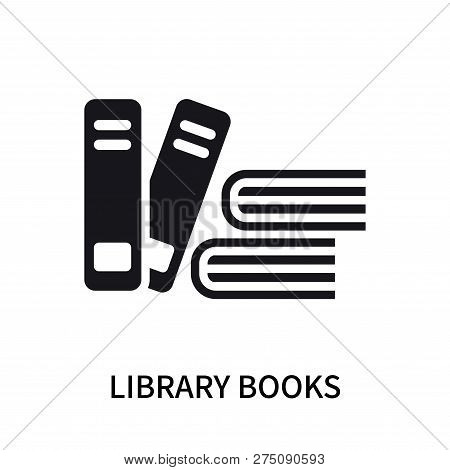 Library Books Icon Isolated On White Background. Library Books Icon Simple Sign. Library Books Icon