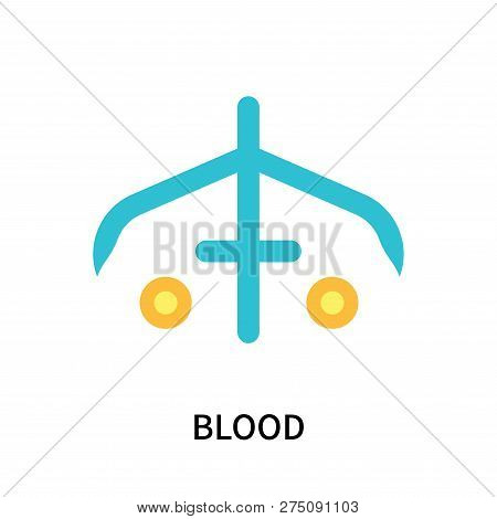 Blood Icon Isolated On White Background. Blood Icon Simple Sign. Blood Icon Trendy And Modern Symbol