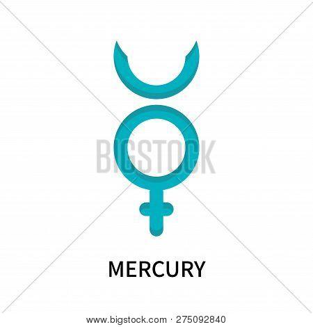 Mercury Icon Isolated On White Background. Mercury Icon Simple Sign. Mercury Icon Trendy And Modern