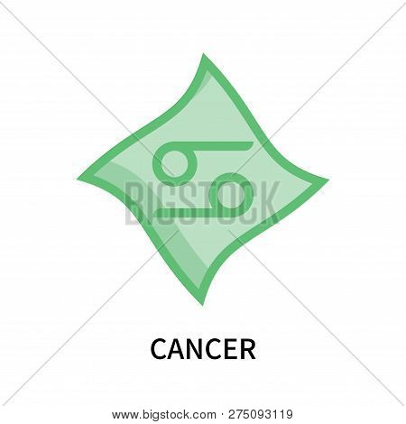 Cancer Icon Isolated On White Background. Cancer Icon Simple Sign. Cancer Icon Trendy And Modern Sym