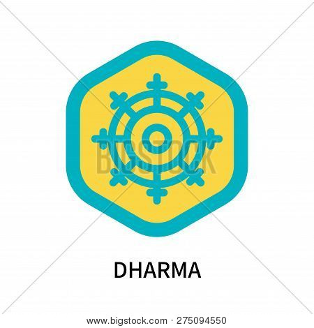 Dharma Icon Isolated On White Background. Dharma Icon Simple Sign. Dharma Icon Trendy And Modern Sym