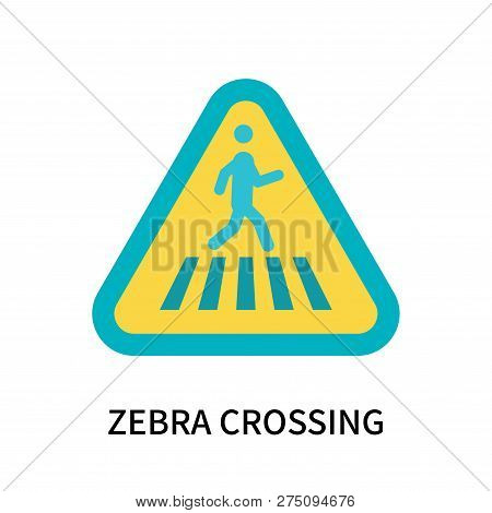 Zebra Crossing Icon Isolated On White Background. Zebra Crossing Icon Simple Sign. Zebra Crossing Ic