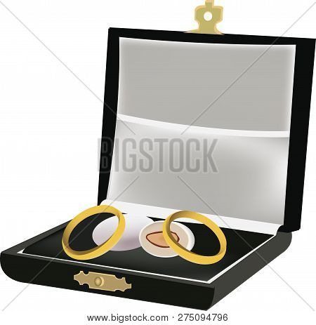 Casket With Wedding Rings And Candy Casket With Wedding Rings