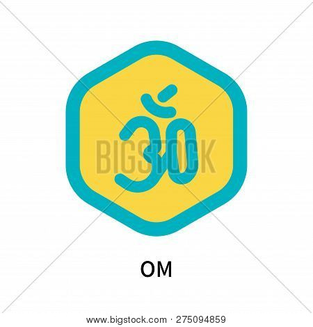 Om Icon Isolated On White Background. Om Icon Simple Sign. Om Icon Trendy And Modern Symbol For Grap