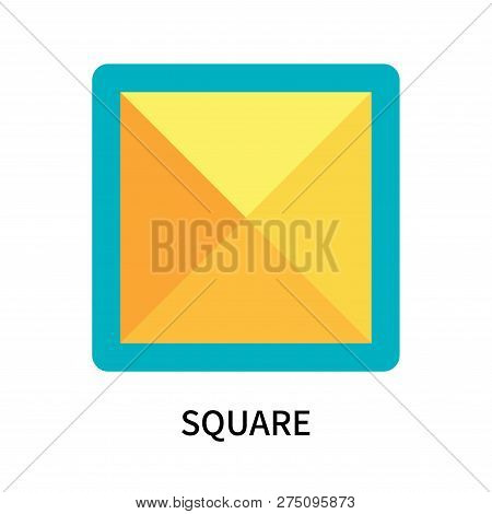 Square Icon Isolated On White Background. Square Icon Simple Sign. Square Icon Trendy And Modern Sym