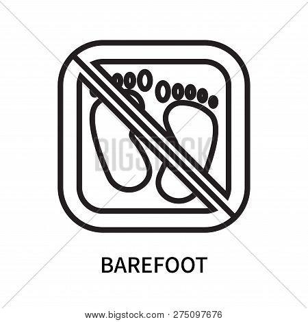Barefoot Icon Isolated On White Background. Barefoot Icon Simple Sign. Barefoot Icon Trendy And Mode
