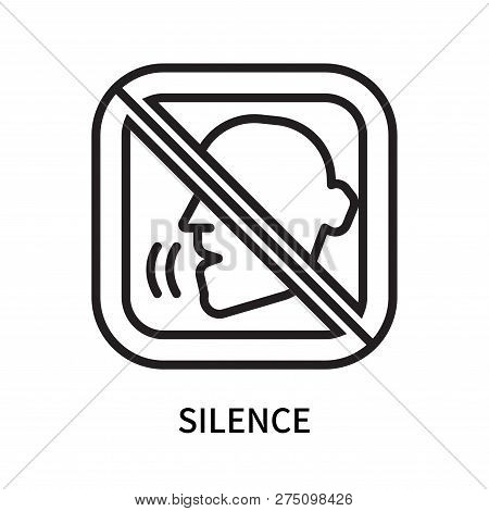 Silence Icon Isolated On White Background. Silence Icon Simple Sign. Silence Icon Trendy And Modern