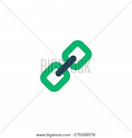 Add Link Icon Flat Element. Vector Illustration Of Add Link Icon Flat Isolated On Clean Background F