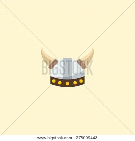 Barbarian Icon Flat Element.  Illustration Of Barbarian Icon Flat Isolated On Clean Background For Y