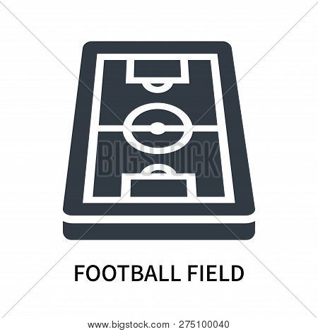 Football Field Icon Isolated On White Background. Football Field Icon Simple Sign. Football Field Ic