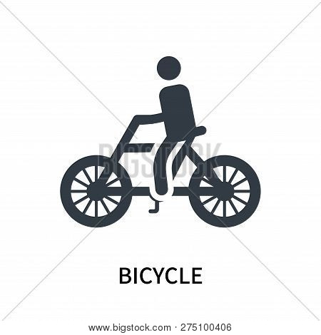 Bicycle Icon Isolated On White Background. Bicycle Icon Simple Sign. Bicycle Icon Trendy And Modern