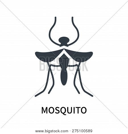 Mosquito Icon Isolated On White Background. Mosquito Icon Simple Sign. Mosquito Icon Trendy And Mode