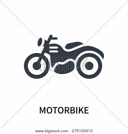 Motorbike Icon Isolated On White Background. Motorbike Icon Simple Sign. Motorbike Icon Trendy And M