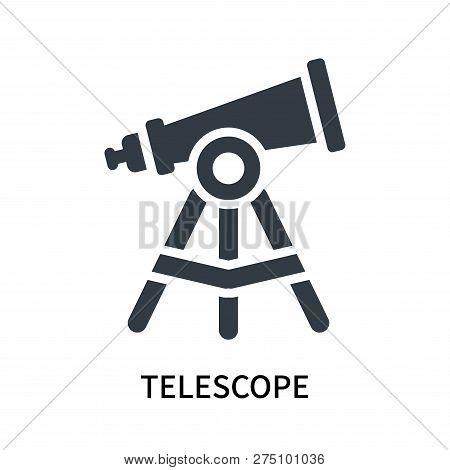 Telescope Icon Isolated On White Background. Telescope Icon Simple Sign. Telescope Icon Trendy And M