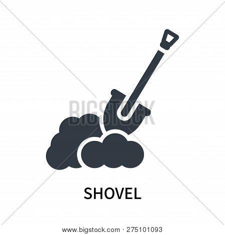 Shovel Icon Isolated On White Background. Shovel Icon Simple Sign. Shovel Icon Trendy And Modern Sym