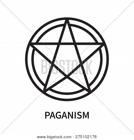 Paganism Icon Isolated On White Background. Paganism Icon Simple Sign. Paganism Icon Trendy And Mode