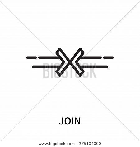 Join Icon Isolated On White Background. Join Icon Simple Sign. Join Icon Trendy And Modern Symbol Fo