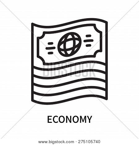 Economy Icon Isolated On White Background. Economy Icon Simple Sign. Economy Icon Trendy And Modern
