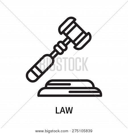 Law Icon Isolated On White Background. Law Icon Simple Sign. Law Icon Trendy And Modern Symbol For G