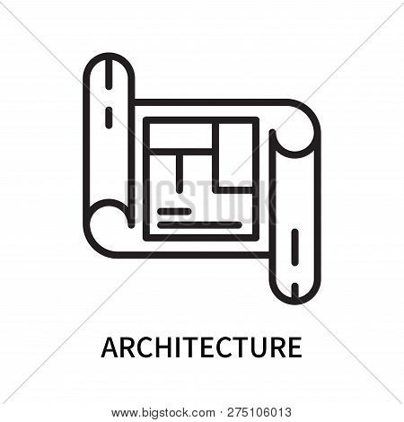 Architecture Icon Isolated On White Background. Architecture Icon Simple Sign. Architecture Icon Tre