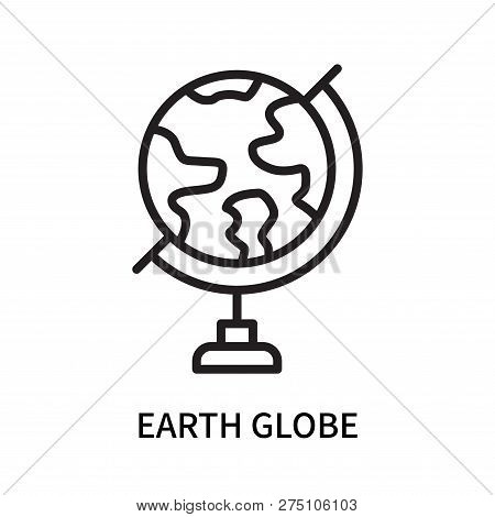 Earth Globe Icon Isolated On White Background. Earth Globe Icon Simple Sign. Earth Globe Icon Trendy