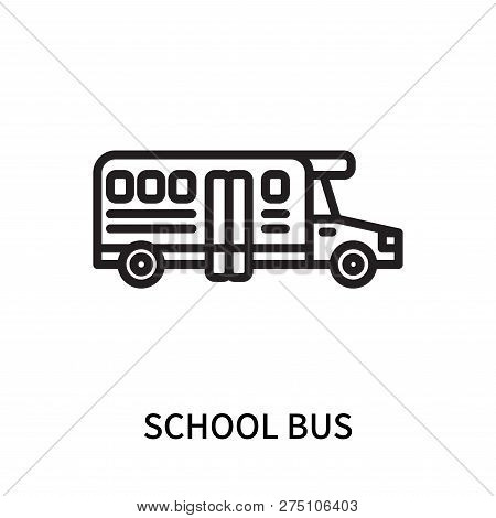 School Bus Icon Isolated On White Background. School Bus Icon Simple Sign. School Bus Icon Trendy An