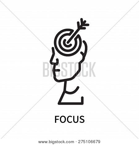 Focus Icon Isolated On White Background. Focus Icon Simple Sign. Focus Icon Trendy And Modern Symbol